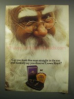 1979 Seagram's Crown Royal Whisky Ad - Santa Claus