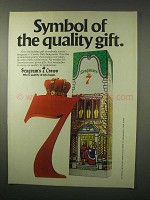 1979 Seagram's 7 Crown Whiskey Ad - Quality Gift