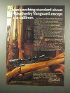 1979 Weatherby Vanguard and Mark XXII Rifles Ad