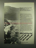 1979 Redfield Scopes Ad - 10,000 Rounds, Three Rifles