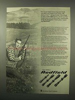 1979 Redfield Scopes Ad - The Buck Kept Browsing