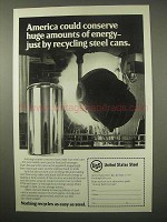 1979 United States Steel Ad - Conserve Energy