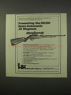 1979 Heckler & Koch HK300 Rifle Ad - Semi-Automatic