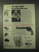 1978 Dan Wesson 15-2VH8 Revolver Ad - An Open Letter