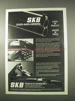 1978 SKB 600 Shotgun Ad - Over-and-Unders