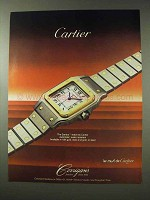 1984 Cartier Santos Watch Ad