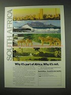 1984 South Africa Tourism Ad - Why It's Part of Africa