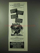1984 The Big Chill Movie Ad - Tom Berenger, Glenn Close