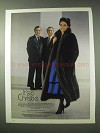 1984 Christie Brothers Russian Sable Coat Fur Ad