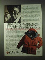 1984 Columbia Anacortes Parka Ad - Face Mother Boyle