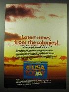 1984 USA Today Newspaper Ad - News from the Colonies