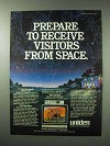 1984 Uniden Satellite TV Systems Ad - From Space