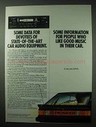 1984 Pioneer KP-5420 Car Stereo Ad - Data for Devotees