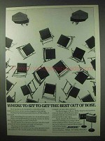 1984 Bose 901 Series V Speakers Ad - Where to Sit