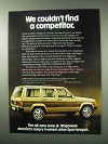 1984 Jeep Wagoneer Sportwagon Ad - Couldn't Find