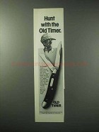 1984 Schrade Old Timer Wrangler Knife Ad - Hunt With