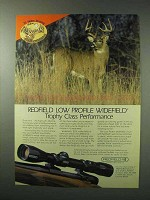 1984 Redfield Low Profile Widefield Scope Ad!