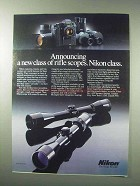 1984 Nikon Rifle Scopes Ad - Announcing a New Class