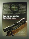 1984 Weatherby Scopes Ad - Look Into The Twilight Zone