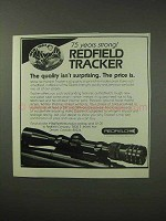 1984 Redfield Tracker Scope Ad - Quality
