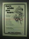 1983 U.S. Air Force Reserve Ad - Earn While you Learn