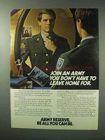 1983 U.S. Army Reserve Ad - Don't Have To Leave Home