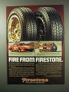 1983 Firestone S-660 Radial, HPR Tires Ad - Dave Kent