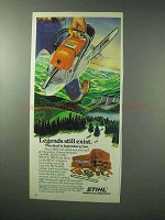 1983 Stihl Chain Saw Ad - Legends Exist