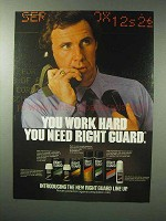 1983 Right Guard Deodorant Ad - Work Hard
