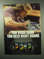 1983 Right Guard Deodorant Ad - You Work Hard