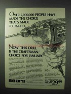 1983 Sears Craftsman #1051 Drill Ad - Made to Take It