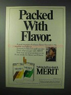 1983 Merit Cigarettes Ad - Packed with Flavor