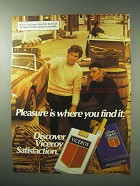1983 Viceroy Cigarettes Advertisement - Pleasure Where You Find It