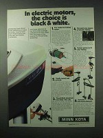 1983 Minn Kota 85 Motor Ad - Choice is Black & White