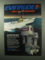1983 Evinrude 235 Outboard Motor Ad - Go For The Best