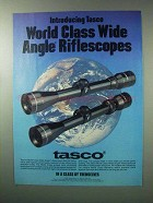 1983 Tasco Riflescopes Ad - World Class Wide Angle