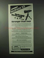 1983 Redfield Illuminator and Lo-Pro Scopes Ad