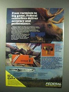 1983 Federal Rifle Cartridges Ad - Varmints to Big Game