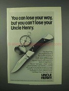 1983 Schrade Uncle Henry LB7 Knife Ad