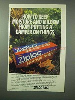 1983 Ziploc Storage Bags Ad - Moisture and Mildew