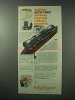 1978 Redfield Accu-Trac Scope Ad - Eliminates Range