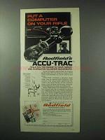 1978 Redfield Accu-Trac Scope Ad - Computer on Rifle