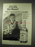 1978 Jim Beam Bourbon Ad - Since When Do You Drink?
