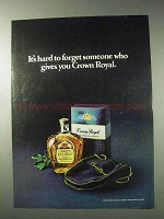 1978 Seagram's Crown Royal Whisky Ad - Hard to Forget