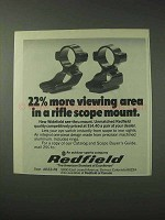 1978 Redfield Scope Mounts Ad - More Viewing Area