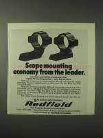1978 Redfield Scope Mounts Ad - Mounting Economy