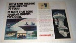 1978 Evinrude 100 Outboard Motor Ad - For 70 Years