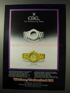 1986 Ebel Discovery Watch Ad - Les Architectes du Temps