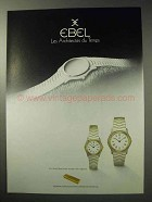 1986 Ebel Watches Ad - Les Architectes du Temps