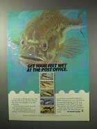 1986 U.S. Postal Service Ad - Get Your Feet Wet